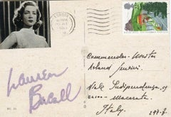 Autographed Postcard by Lauren Bacall - 1985