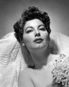 Ava Gardner Looking Up Globe Photos Fine Art Print