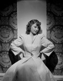 Barbara Stanwyck Dramatic Studio Portrait Fine Art Print