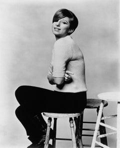 Barbra Streisand Posing on Stool Vintage Original Photograph