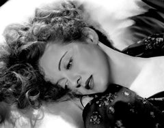 Bette Davis Lying in Silk Globe Photos Fine Art Print