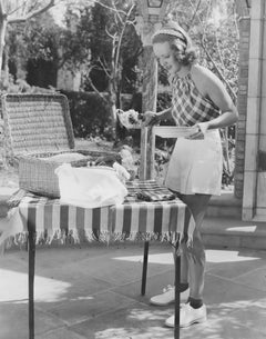 Bette Davis: Screen Queen on a Picnic Fine Art Print