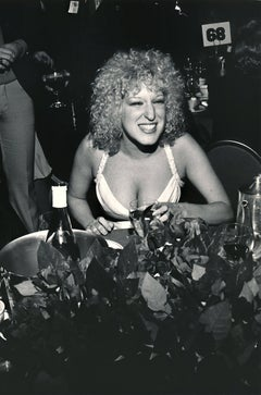 Bette Midler: Young Vocalist With a Drink Fine Art Print