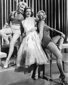 Betty Grable, Lauren Bacall, and Marilyn Monroe Globe Photos Fine Art Print