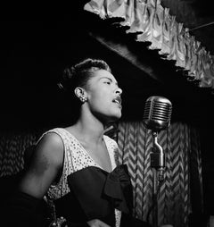 Billie Holiday at the Downbeat Globe Photos Fine Art Print