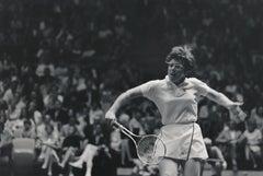 Billie Jean King: Tennis Legend in Action Fine Art Print
