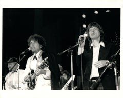 Bob Dylan and Mick Jagger at the Hall of Fame Vintage Original Photograph