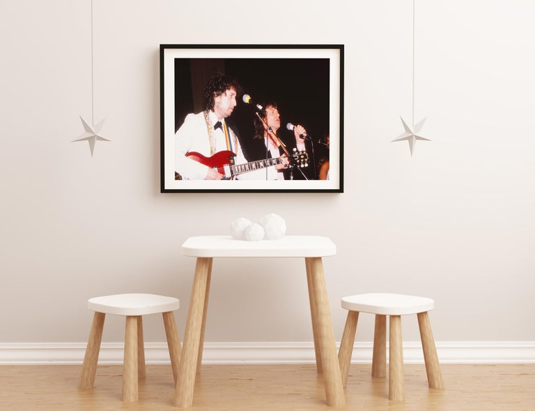Bob Dylan and Mick Jagger Performing Together Fine Art Print For Sale 2