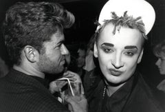 Boy George and George Michael Candid Vintage Original Photograph