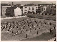 Boys in Lines of Practice - Vintage B/W photo - 1930s