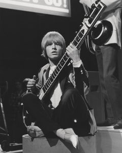 Brian Jones of The Rolling Stones Sitting with Guitar Fine Art Print