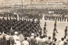 Brigade University Militias in Cuba - Vintage B/W Photo - 1970s