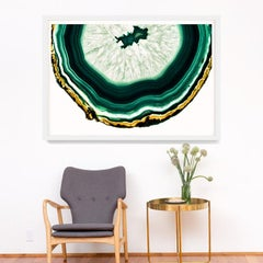 Bright Geodes no. 11, giclee print, framed