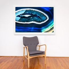 Bright Geodes no. 12, giclee print, framed