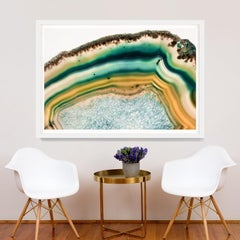 Bright Geodes no. 2, giclee print, framed