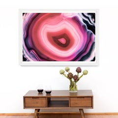 Bright Geodes no. 6, giclee print, framed