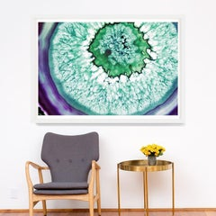 Bright Geodes no. 7, giclee print, framed