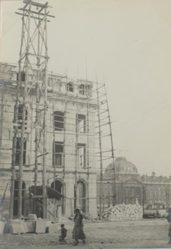 Building Construction Site in Paris, 1927 - Silver Gelatin B and W Photograph