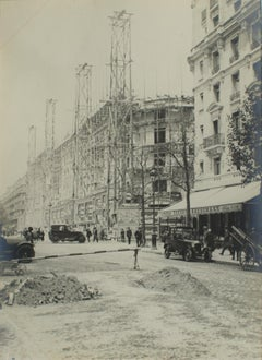 Buildings in Construction Paris 1926 - Silver Gelatin Black and White Photograph