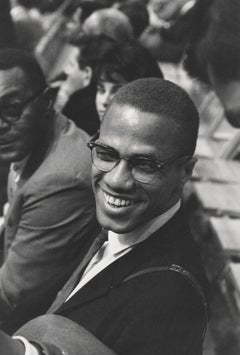 Candid Malcolm X Smiling at an Ali Fight Fine Art Print