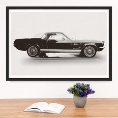 Car Photography no. 10, giclee print, framed