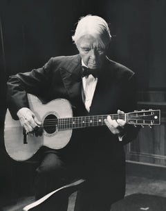 Carl Sandburg Playing Guitar Fine Art Print