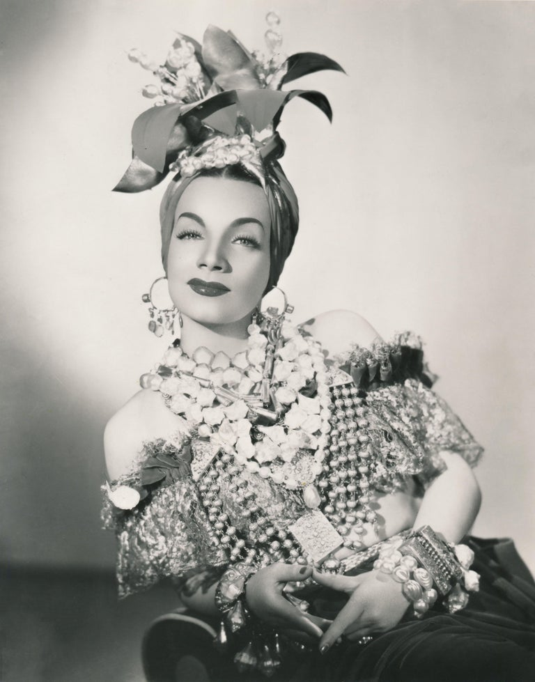 1a6e14c7c6a Unknown - Carmen Miranda in Signature Fruit Hat Fine Art Print ...