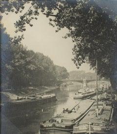 Charenton Le Pont, France 1926 - Silver Gelatin Black and White Photograph