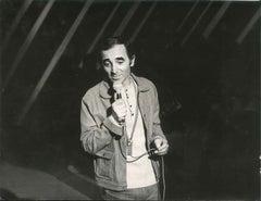 Charles Aznavour Vintage Photo - Vintage Photo 1980s