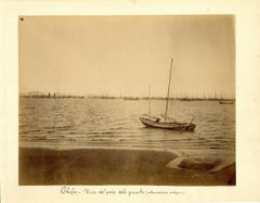 Chefoo, Harbour of Junks - Ancient Albumen Print 1880/1900