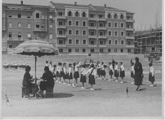 Children Playing during Fascism in Italy - Vintage b/w Photo - 1930 ca.