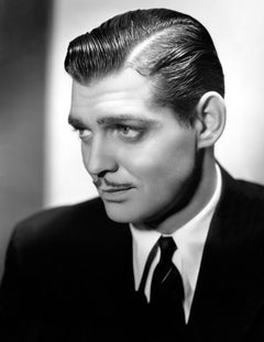 Clark Gable Profile in the Studio Globe Photos Fine Art Print