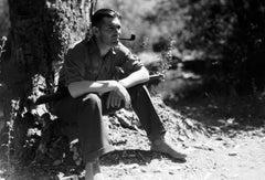 Clark Gable Smoking Under a Tree Globe Photos Fine Art Print