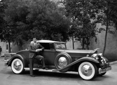 Clark Gable Standing by Car Globe Photos Fine Art Print
