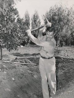 Clark Gable with Pickaxe Fine Art Print