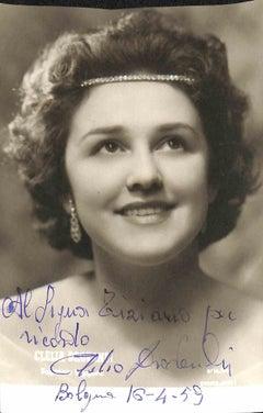 Clelia Drovandi Autographed Photo - 1959