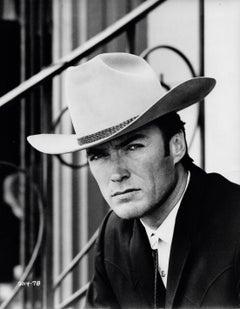 Clint Eastwood in Cowboy Hat Vintage Original Photograph