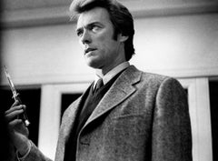 """Clint Eastwood with Butterfly Knife in """"Dirty Harry"""" Globe Photos Fine Art Print"""