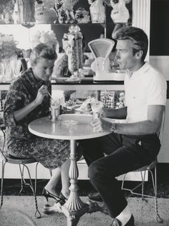 Clint Eastwood with Wife at the Soda Shop Fine Art Print