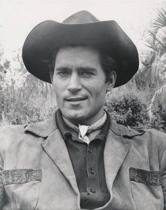 Clint Walker Smiling in Cowboy Hat Fine Art Print