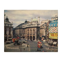 Colored Piccadilly Circus Plaza Street Scene London, England