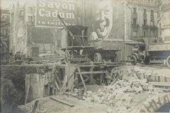 Construction on Blvd Haussmann, Paris 1926 - Silver Gelatin B and W Photograph