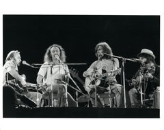 Crosby, Stills, and Nash on Stage Vintage Original Photograph