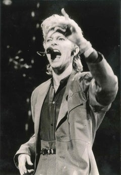 David Bowie in concert - Original Vintage Photograph - Early 1980s