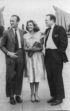 David Niven with Rita Hayworth - Original Vintage Photograph - 1950s