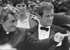 Dean Martin and Roger Moore - Original Vintage Photograph - 1981