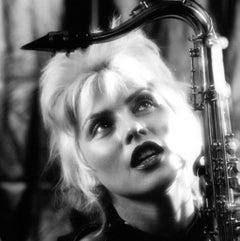 Debbie Harry of Blondie with Saxophone Vintage Original Photograph