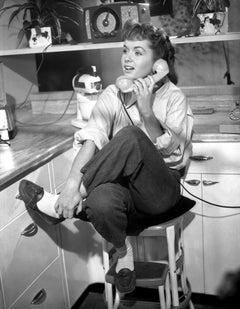 Debbie Reynolds Talking on Telephone Fine Art Print