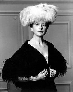 Deborah Kerr in Fur Hat Fine Art Print