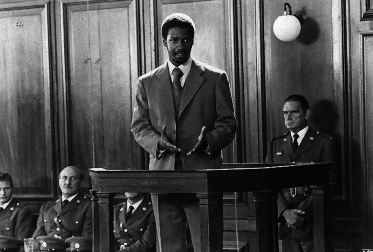 """Unknown Portrait Photograph - Denzel Washington in """"Cry Freedom"""" - Vintage Photograph - 1987"""